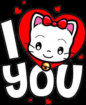 I love you - Katze