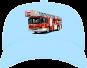 Kinder Basecap Feuerwehr Drehleiter -hellblau-